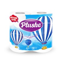 Plushe Light Color White т/б 4 рулона 2 слоя 15м