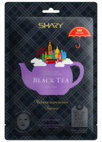 Shary Black Tea Чайная церемония Англия Ферментная тканевая маска Укрепляющая для уставшей, ослабленной и тусклой кожи, 25г