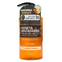 "Гель для душа ""Kundal Honey & Macadamia Body Wash"" Янтарная Ваниль (AMBER VANILLA) - 500мл"